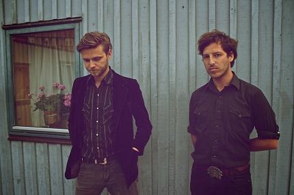Palace Winter: australisch-dänisches Duo; links: Caspar von My Heart The Brave