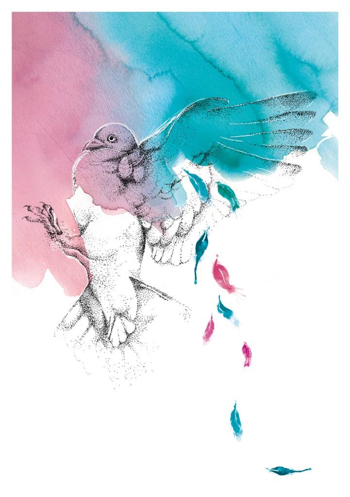Eine der Zeichnungen aus dem Booklet der EP
