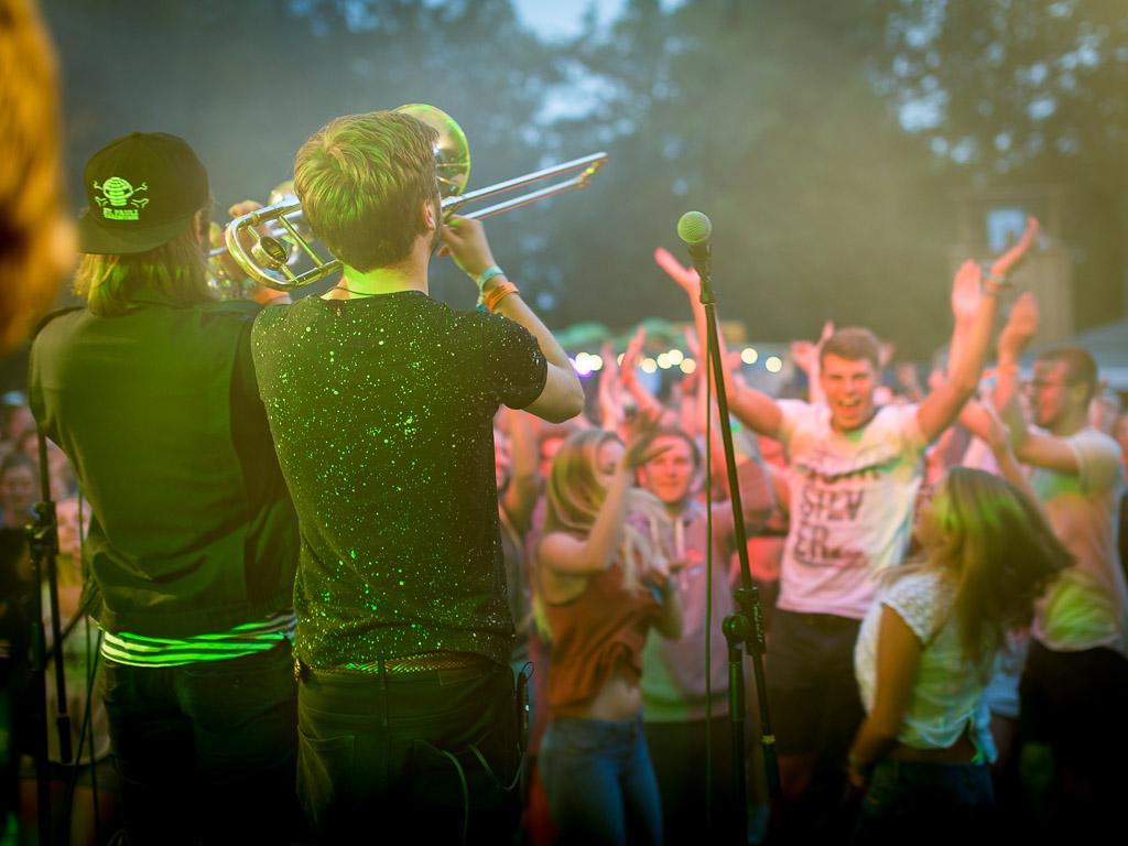 FLOOOT aus Göttingen geben beim SNNTG Festival 2018 wieder einmal alles!