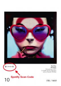 """The Art Of Vinyl Covers"" Kalender mit speziellem Spotify-Scan-Code"