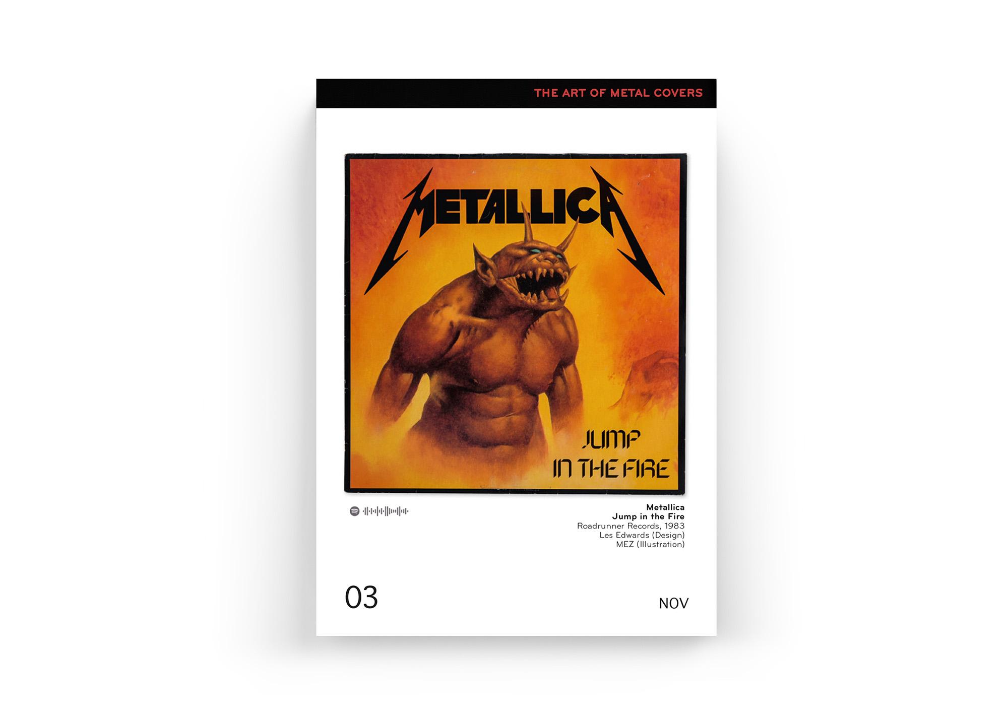 """Mit dabei im """"The Art Of Metal Covers"""" Kalender 2019 von Oliver Seltmann: Metallica"""