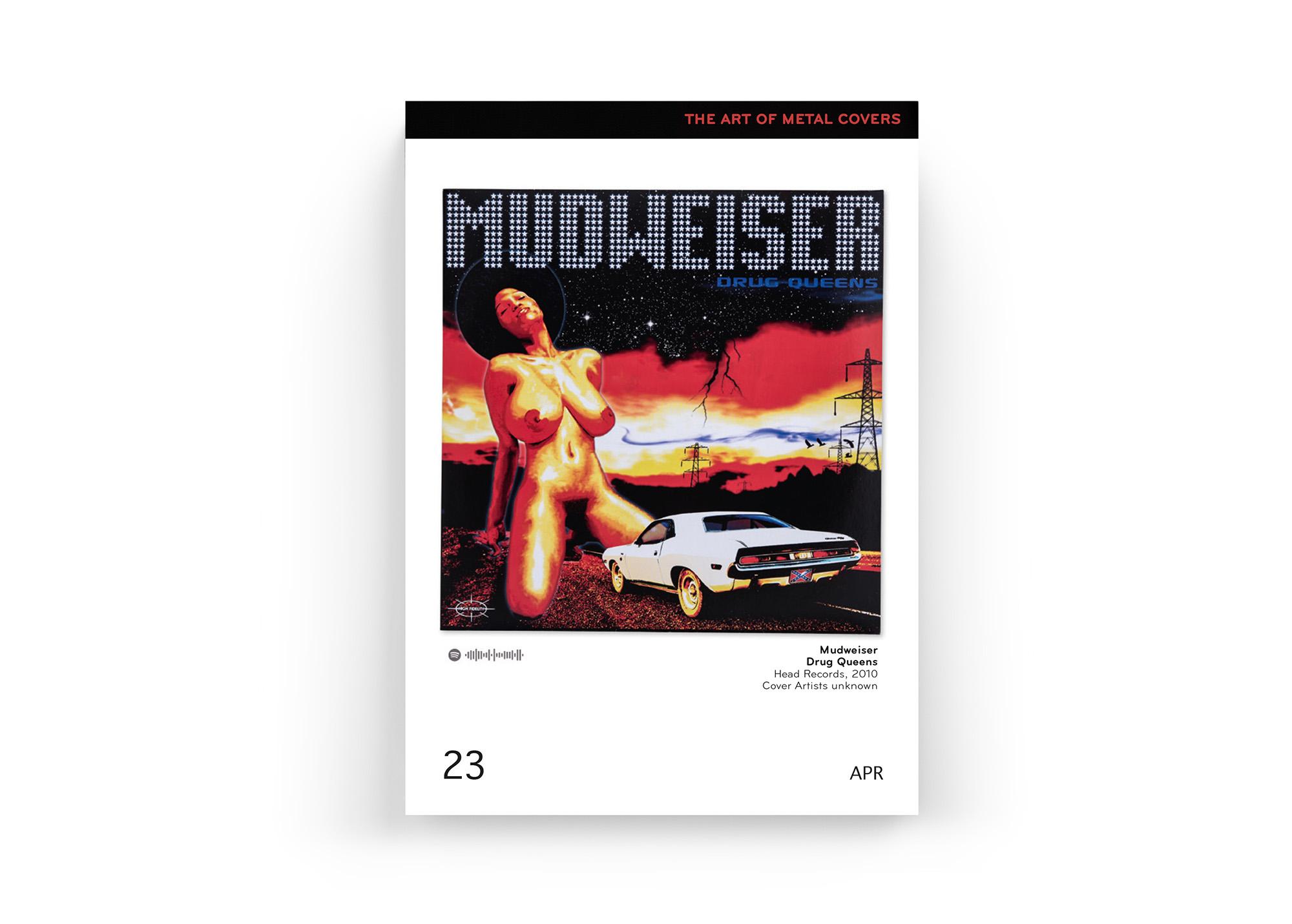 """Mit dabei im """"The Art Of Metal Covers"""" Kalender 2019 von Oliver Seltmann: Mudweiser"""