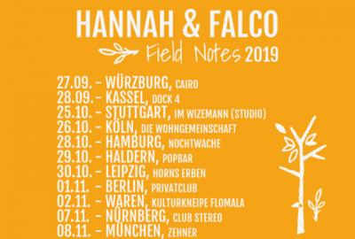"""Hannah & Falco auf """"Field Notes"""" Tour - Soundkartell präsentiert"""