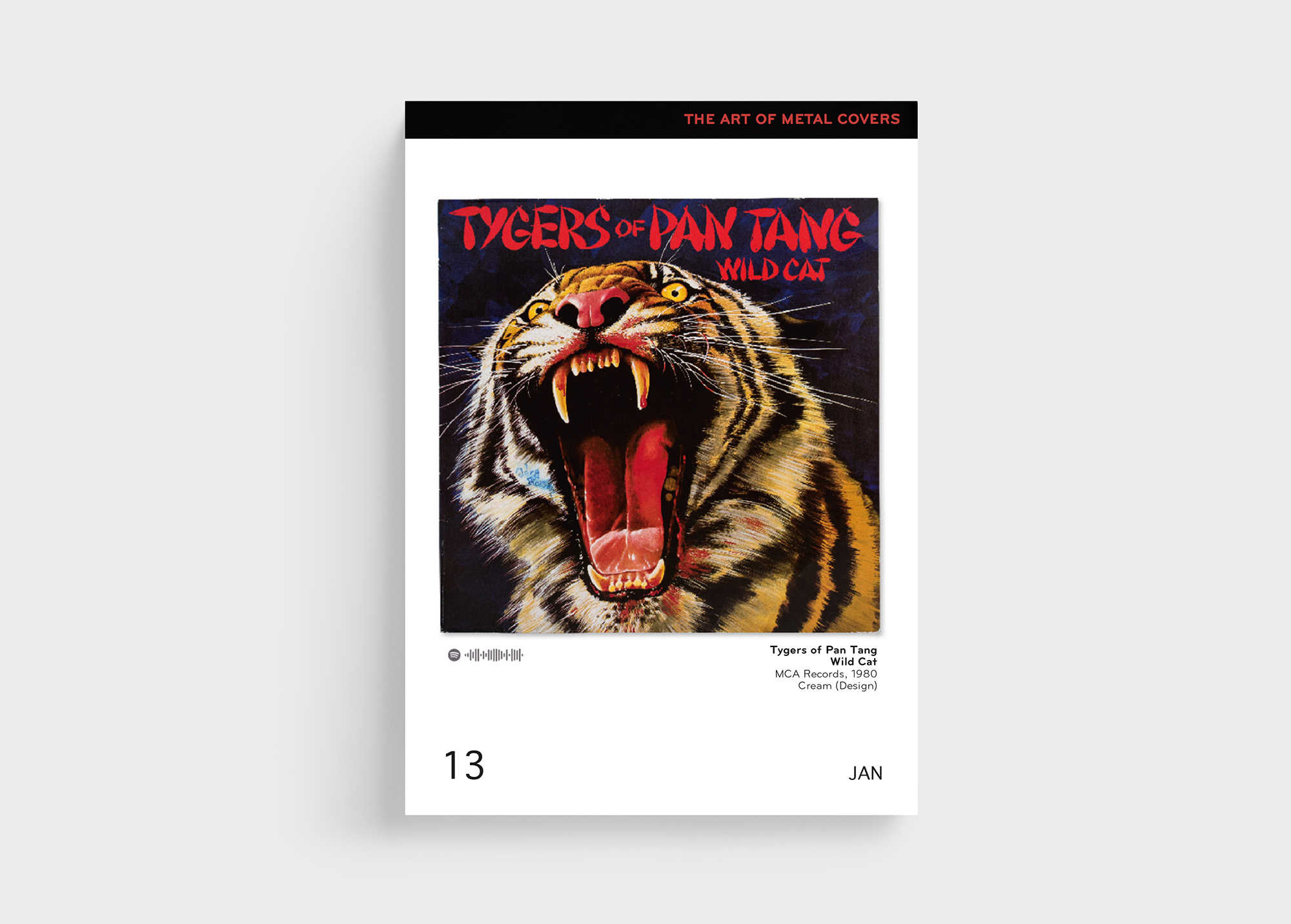 "Rocken ebenfalls energisch den ""The Art Of Metal Covers"" Kalender von Oliver Seltmann: Tigers Of Pan Tang"