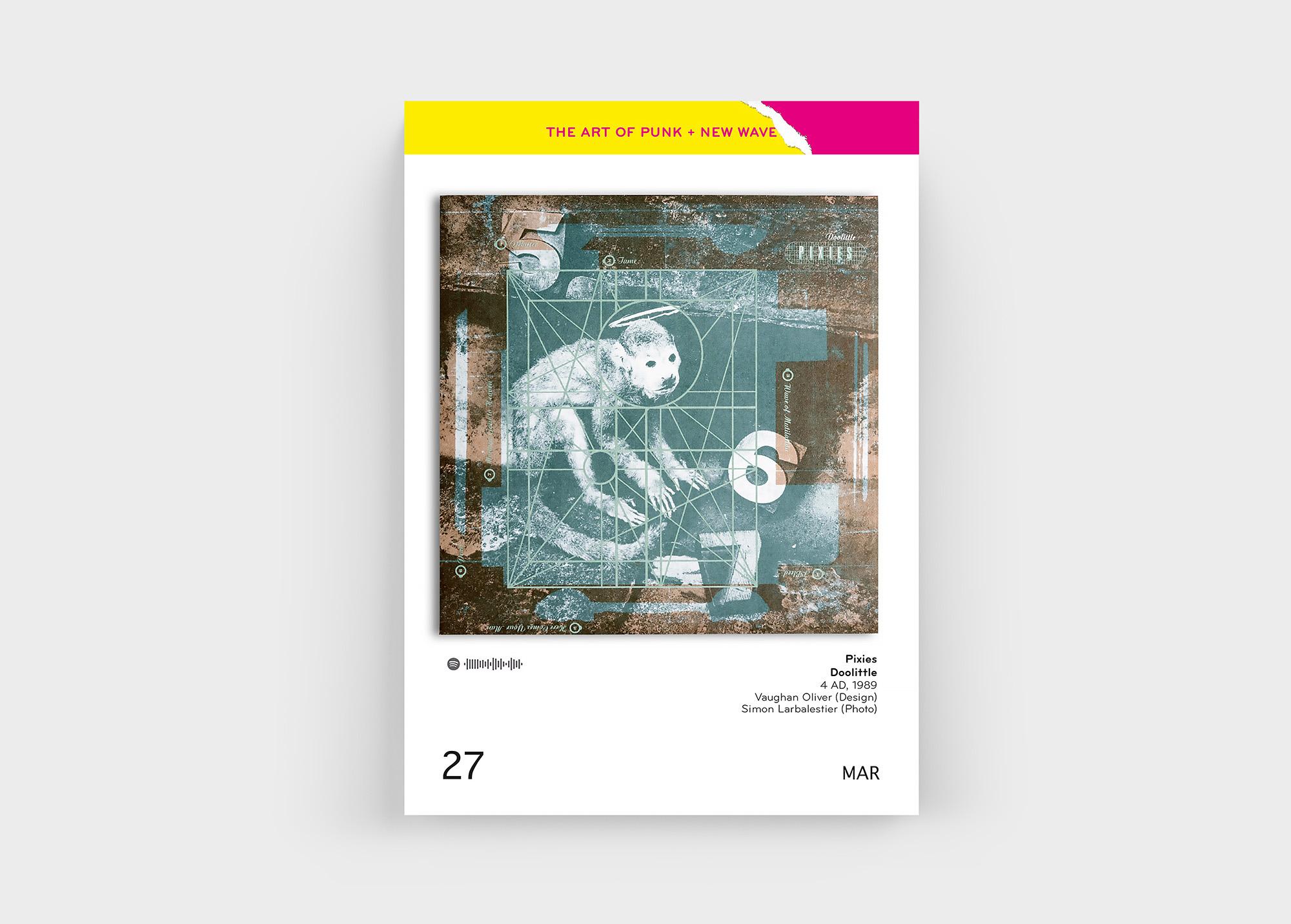 """Natürlich auch mit dabei im """"The Art Of Punk + New Wave Covers"""" Kalender von Oliver Seltmann: die Pixies"""