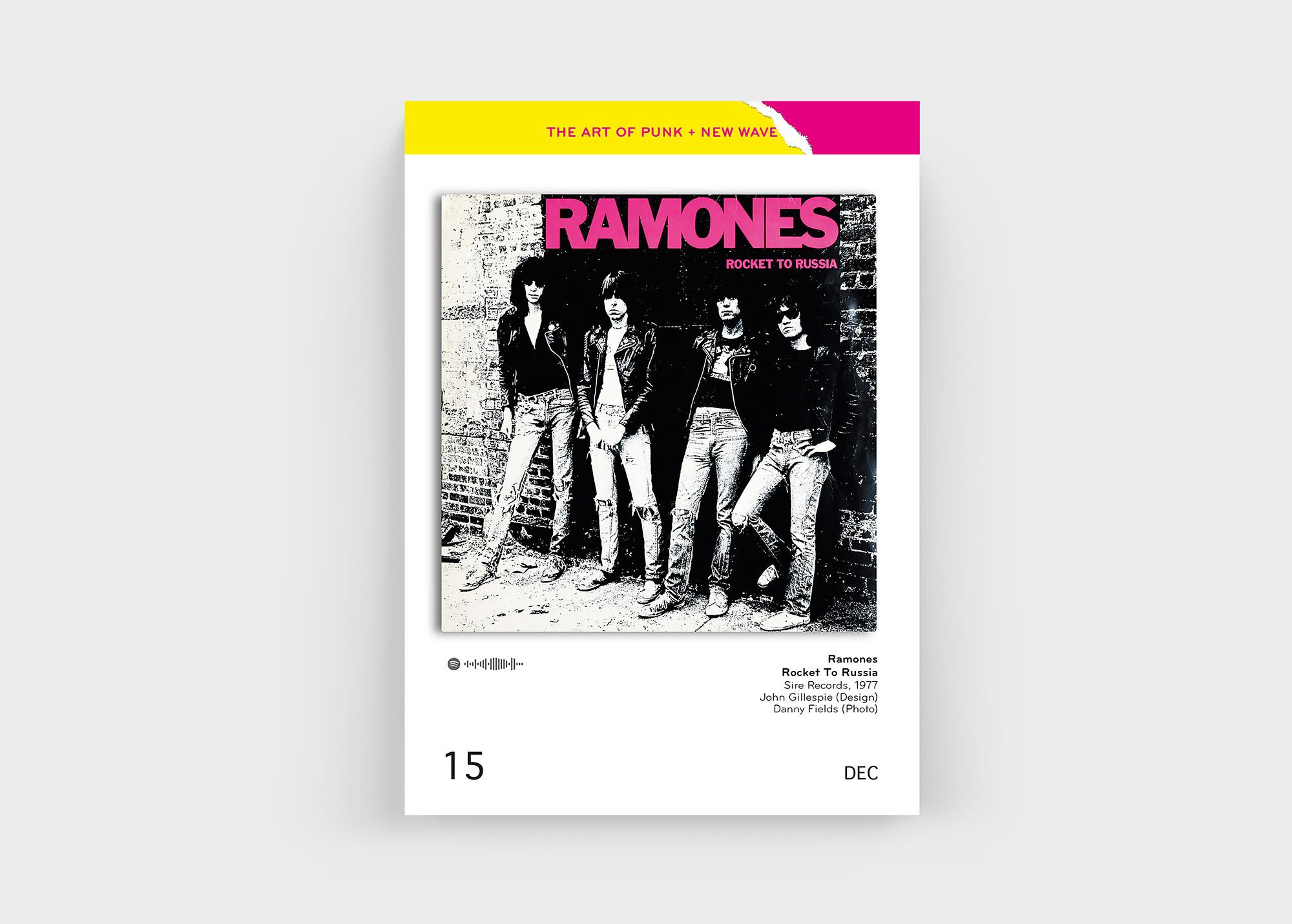 """Natürlich auch mit dabei im """"The Art Of Punk + New Wave Covers"""" Kalender von Oliver Seltmann: die Ramones"""